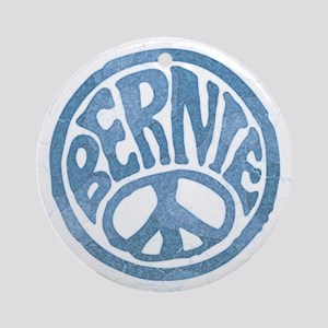 60s Peace Bernie Round Ornament